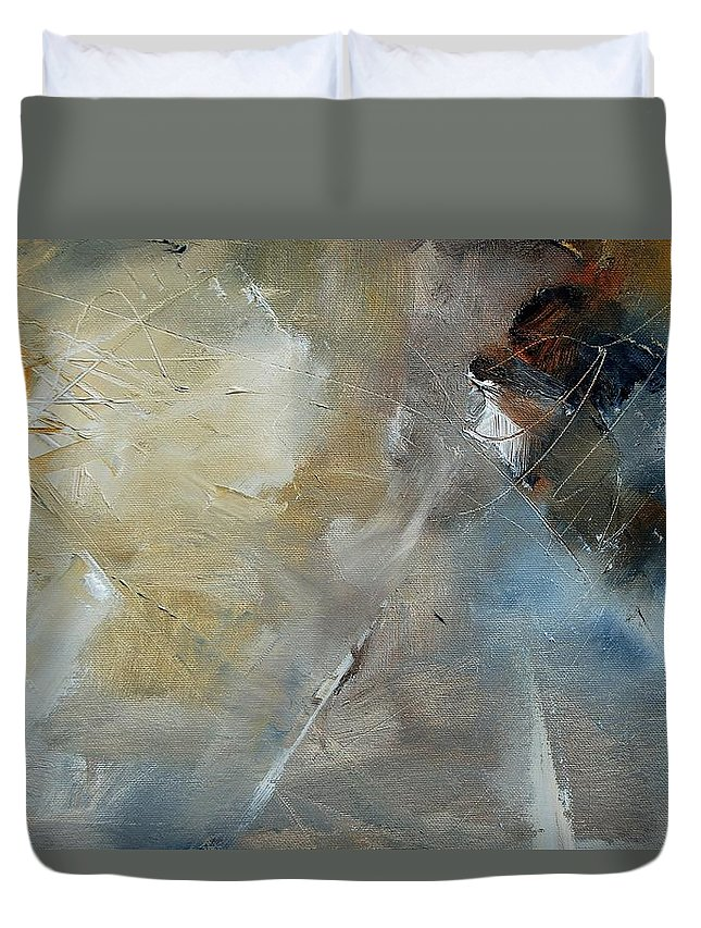 Abstract Duvet Cover featuring the painting Abstract 904060 by Pol Ledent