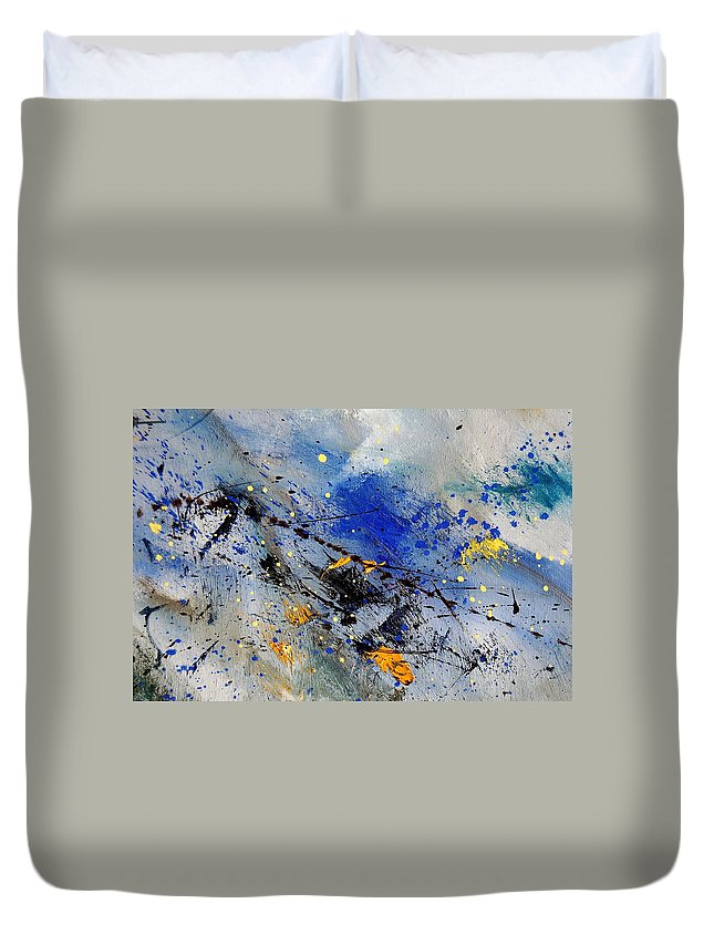 Abstract Duvet Cover featuring the painting Abstract 969090 by Pol Ledent