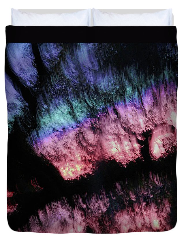 Abstract Duvet Cover featuring the digital art Abstract Accident by DigiArt Diaries by Vicky B Fuller