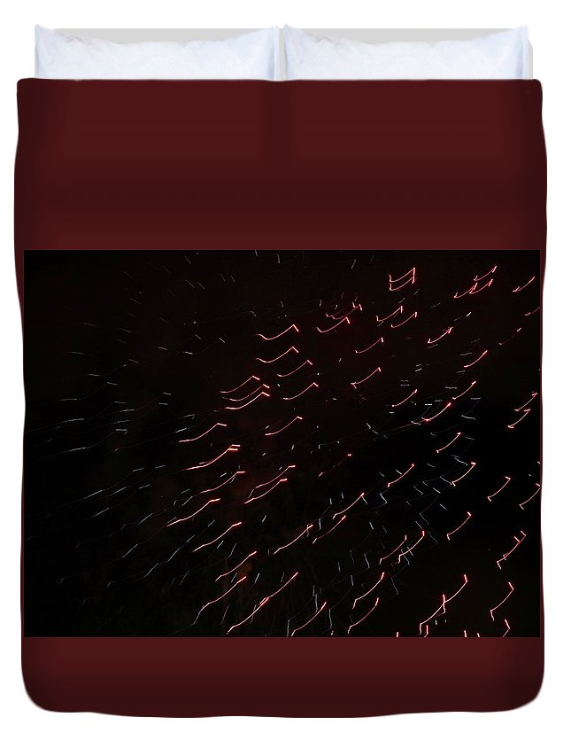 Fireworks Duvet Cover featuring the photograph Abstract Art Six by Kenneth Summers