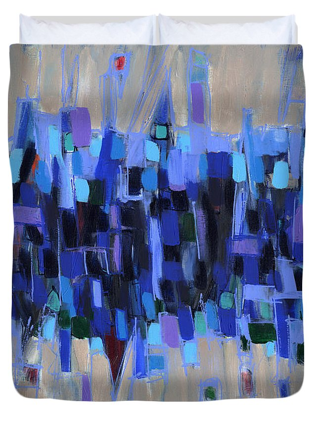 Abstract Duvet Cover featuring the painting Abstract Art Twenty-three by Lynne Taetzsch