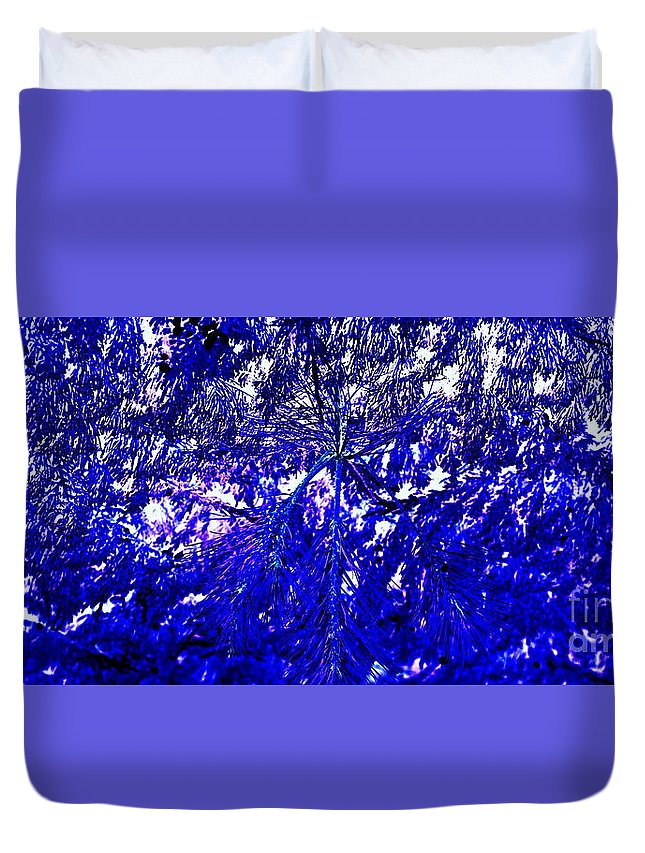 Abstract Duvet Cover featuring the photograph Abstract Blue by Anita Goel
