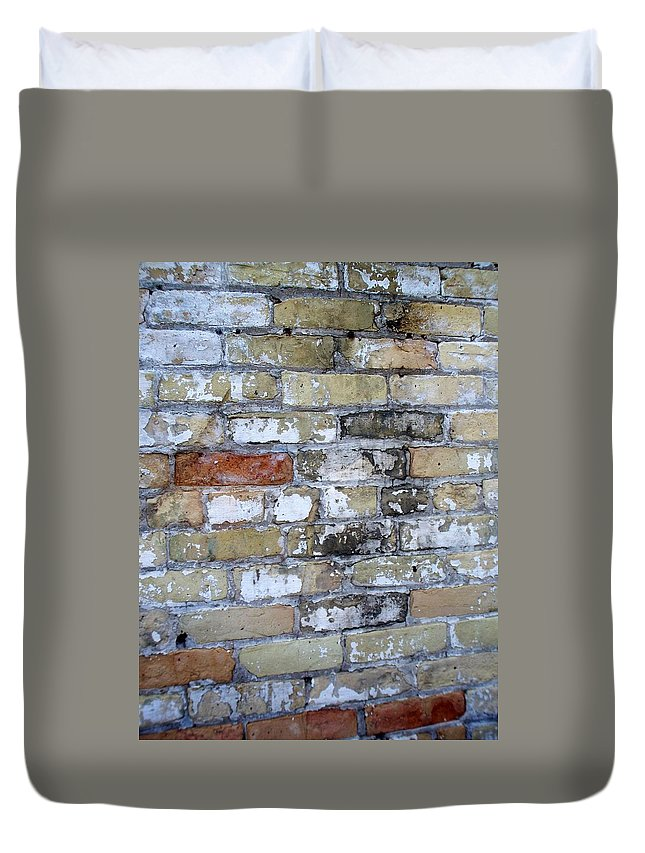 Industrial Duvet Cover featuring the photograph Abstract Brick 10 by Anita Burgermeister
