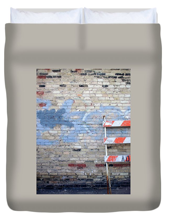 Industrial Duvet Cover featuring the photograph Abstract Brick 2 by Anita Burgermeister