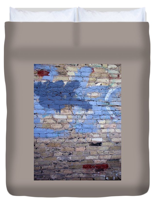 Industrial Duvet Cover featuring the photograph Abstract Brick 3 by Anita Burgermeister