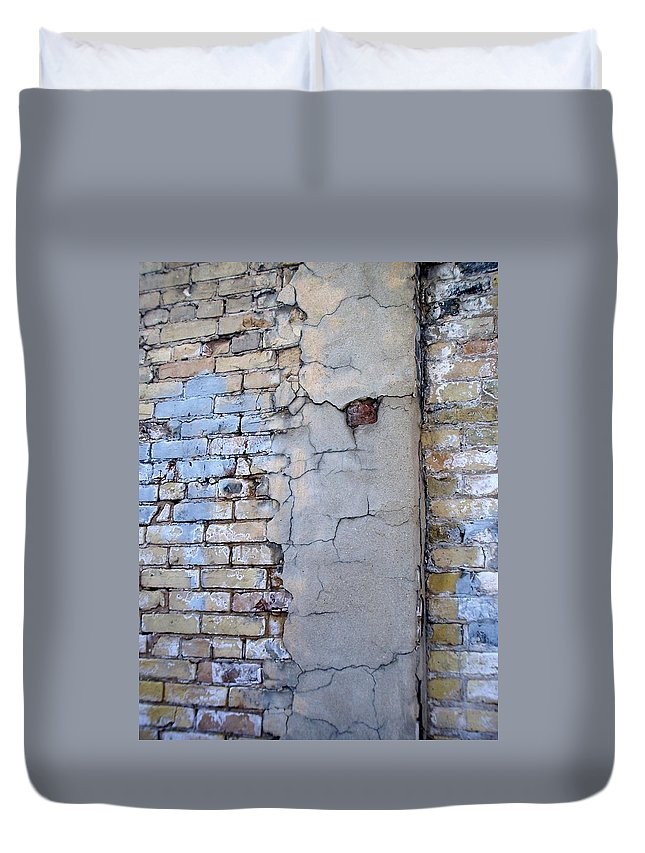 Industrial Duvet Cover featuring the photograph Abstract Brick 4 by Anita Burgermeister