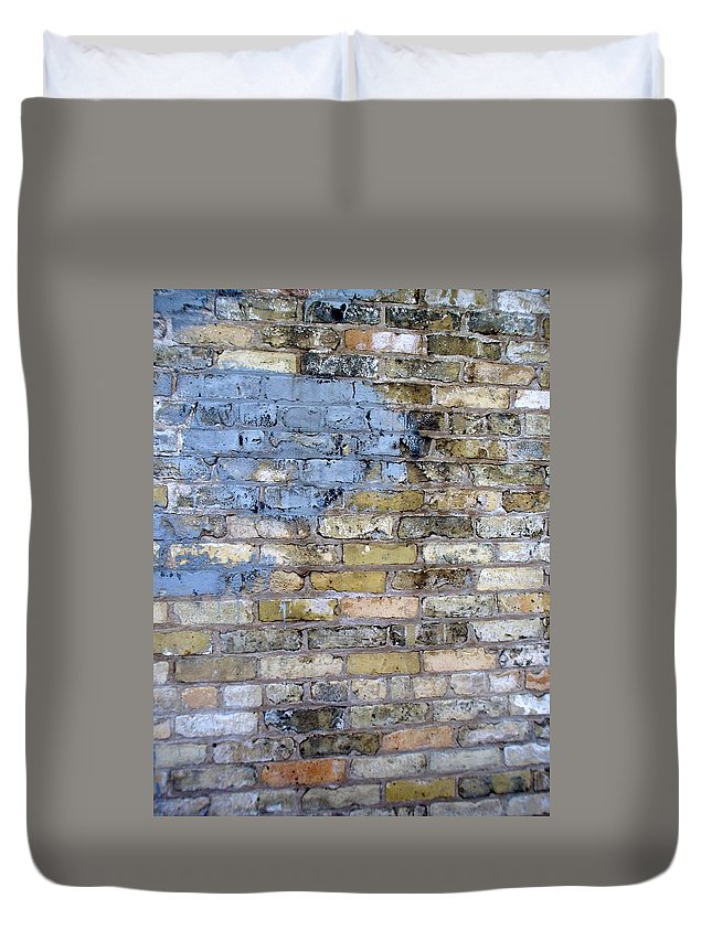 Industrial Duvet Cover featuring the photograph Abstract Brick 6 by Anita Burgermeister