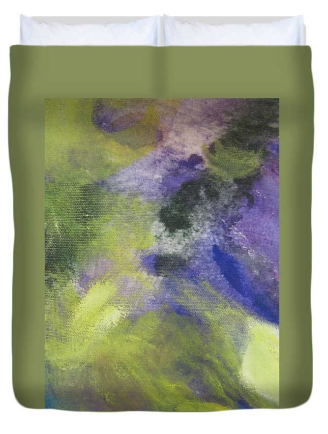 Abstact Duvet Cover featuring the painting Abstract Close Up 1 by Anita Burgermeister