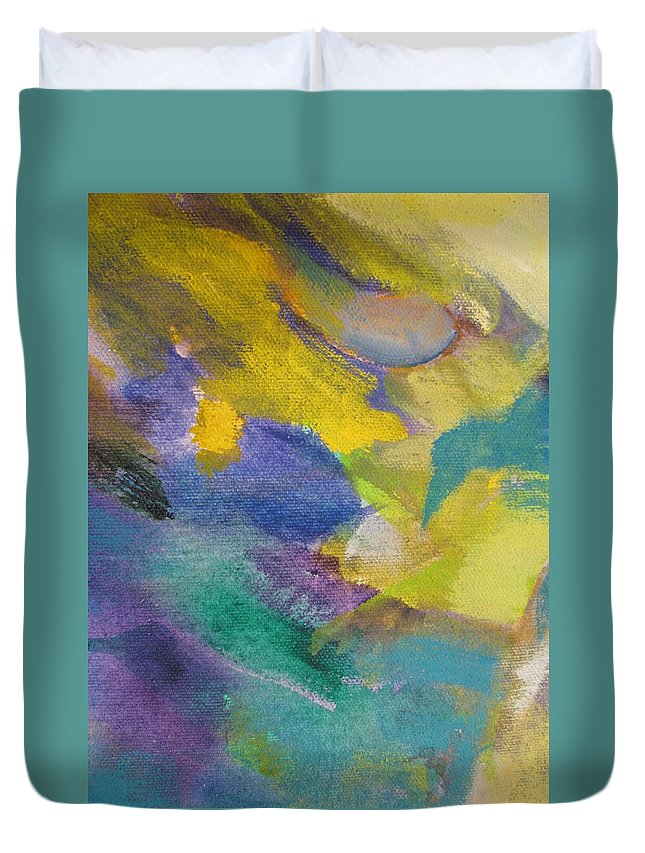 Abstact Duvet Cover featuring the painting Abstract Close Up 13 by Anita Burgermeister