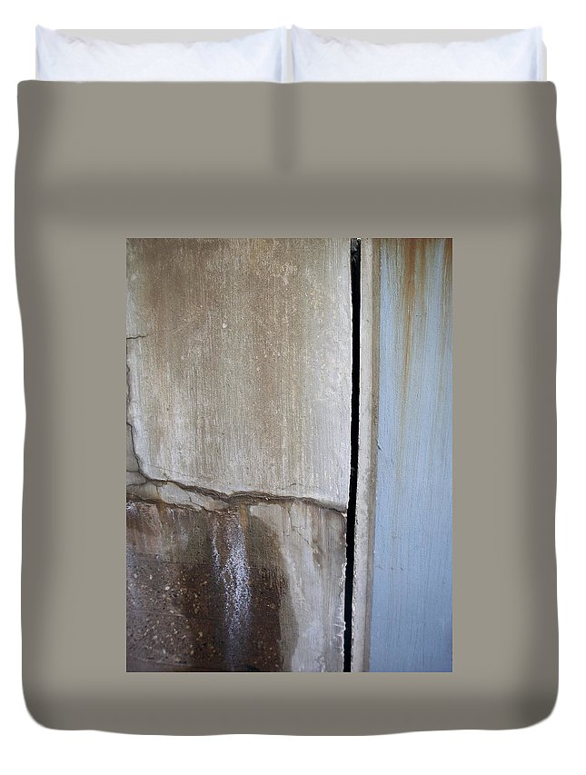 Industrial. Urban Duvet Cover featuring the photograph Abstract Concrete 1 by Anita Burgermeister
