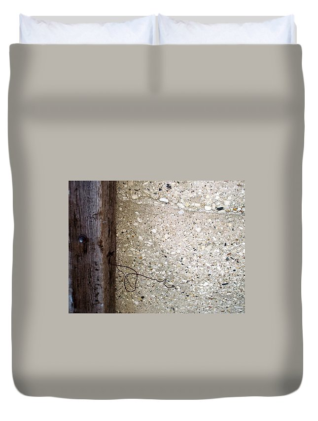Industrial. Urban Duvet Cover featuring the photograph Abstract Concrete 12 by Anita Burgermeister