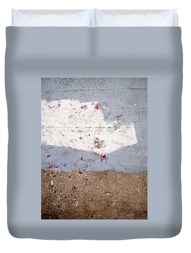 Industrial. Urban Duvet Cover featuring the photograph Abstract Concrete 13 by Anita Burgermeister