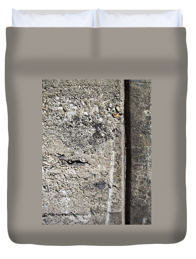 Industrial. Urban Duvet Cover featuring the photograph Abstract Concrete 16 by Anita Burgermeister