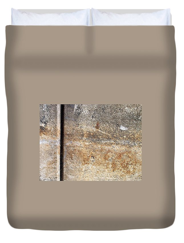Industrial. Urban Duvet Cover featuring the photograph Abstract Concrete 17 by Anita Burgermeister