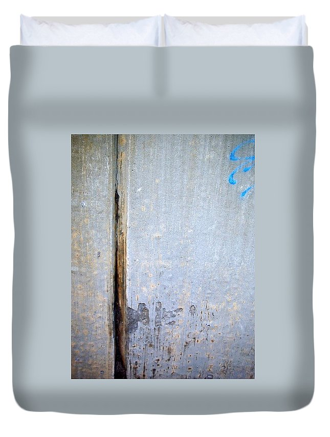 Industrial. Urban Duvet Cover featuring the photograph Abstract Concrete 19 by Anita Burgermeister