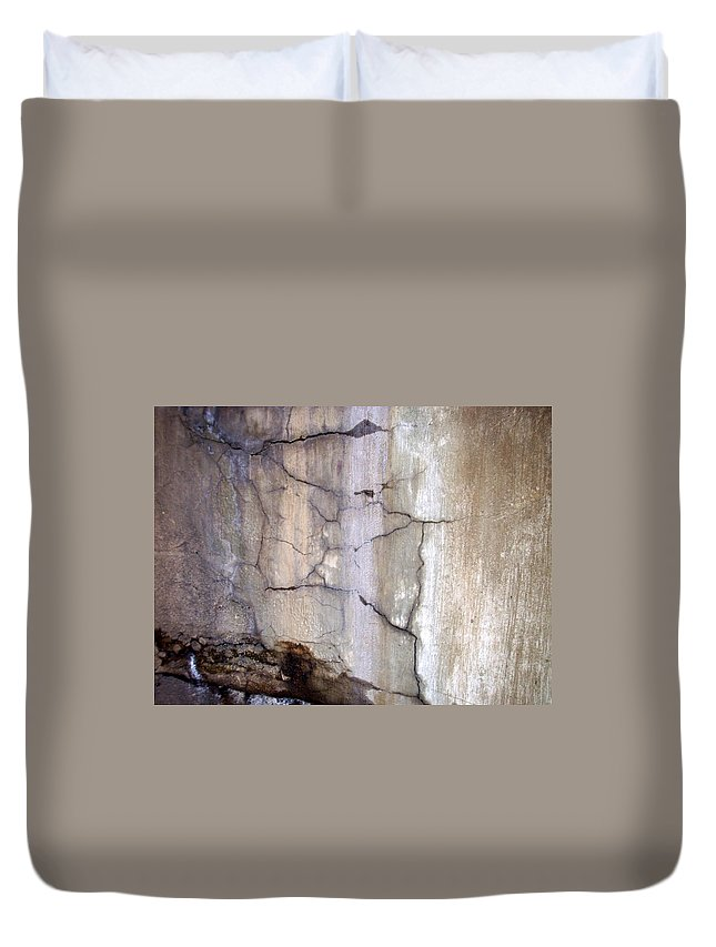 Industrial. Urban Duvet Cover featuring the photograph Abstract Concrete 2 by Anita Burgermeister