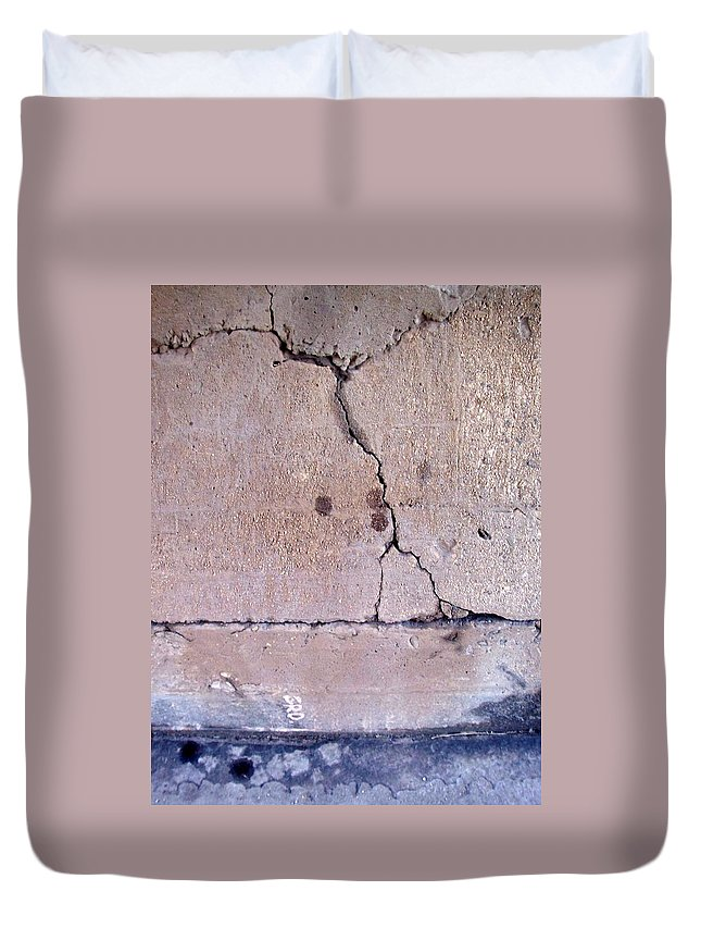 Industrial. Urban Duvet Cover featuring the photograph Abstract Concrete 3 by Anita Burgermeister