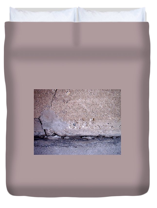 Industrial. Urban Duvet Cover featuring the photograph Abstract Concrete 4 by Anita Burgermeister