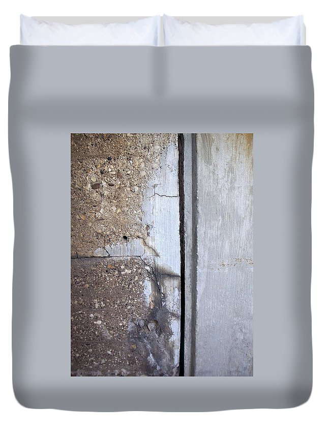 Industrial. Urban Duvet Cover featuring the photograph Abstract Concrete 5 by Anita Burgermeister