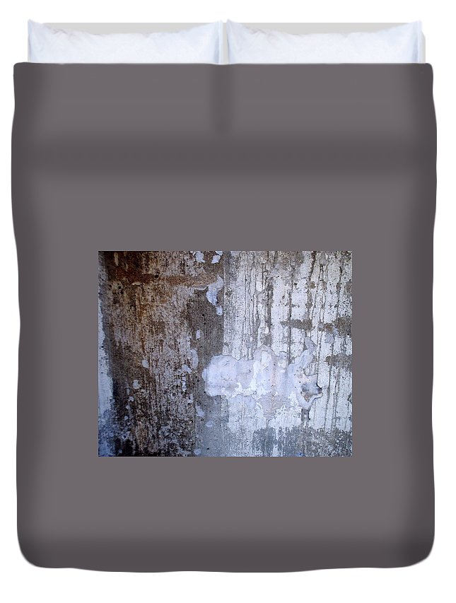 Industrial. Urban Duvet Cover featuring the photograph Abstract Concrete 8 by Anita Burgermeister