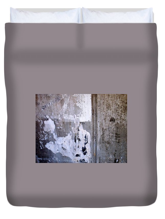 Industrial. Urban Duvet Cover featuring the photograph Abstract Concrete 9 by Anita Burgermeister