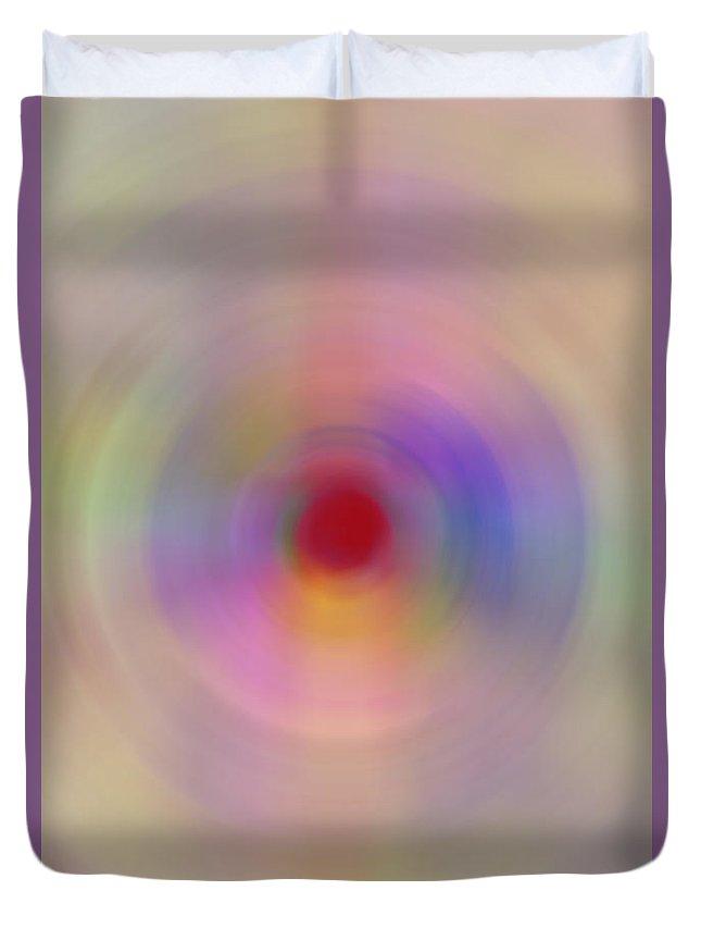 Digital Art Duvet Cover featuring the digital art Abstract by David Stasiak