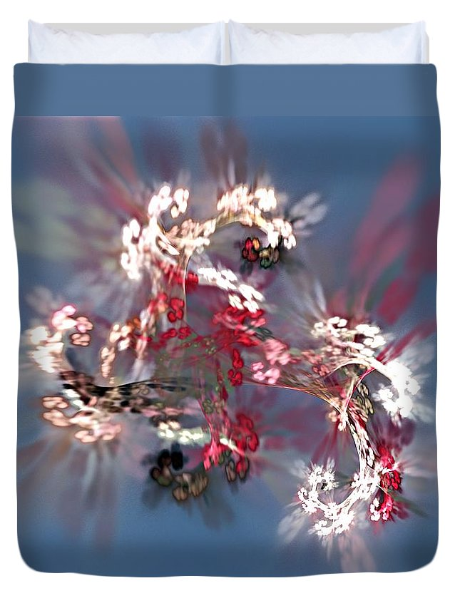 Floral Duvet Cover featuring the digital art Abstract Floral Fantasy by David Lane