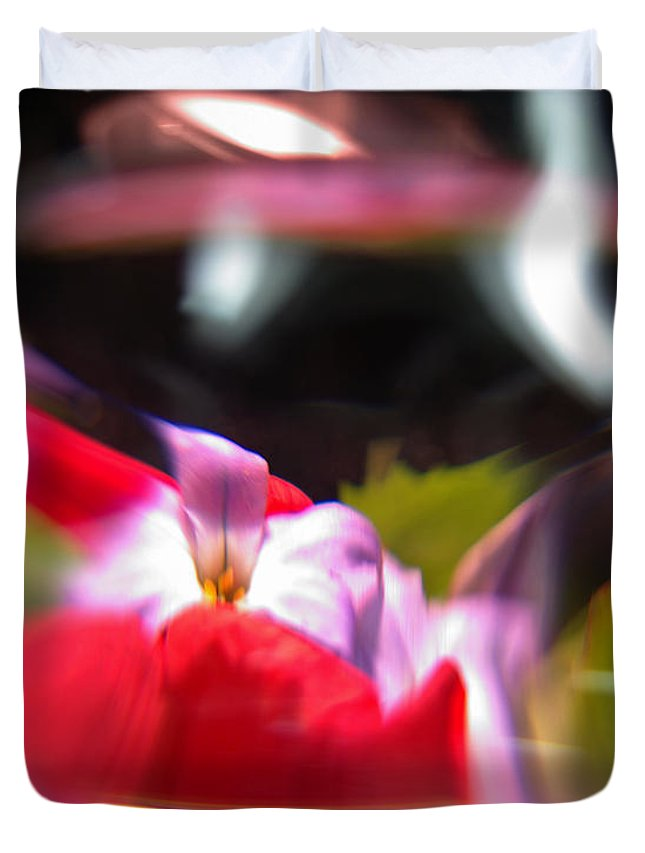 Abstract Duvet Cover featuring the photograph Abstract Flowers Part Two by Scott Wyatt