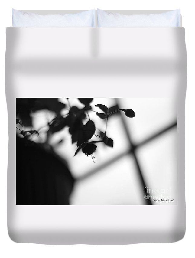 Flower Duvet Cover featuring the photograph Abstract Flowers by Todd Blanchard