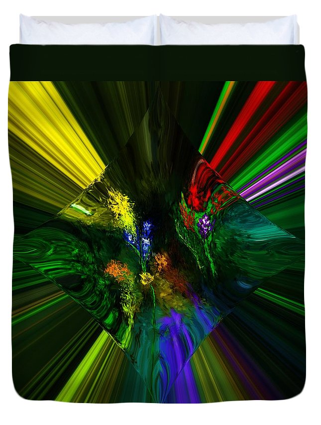 Digital Painting Duvet Cover featuring the digital art Abstract Garden by David Lane