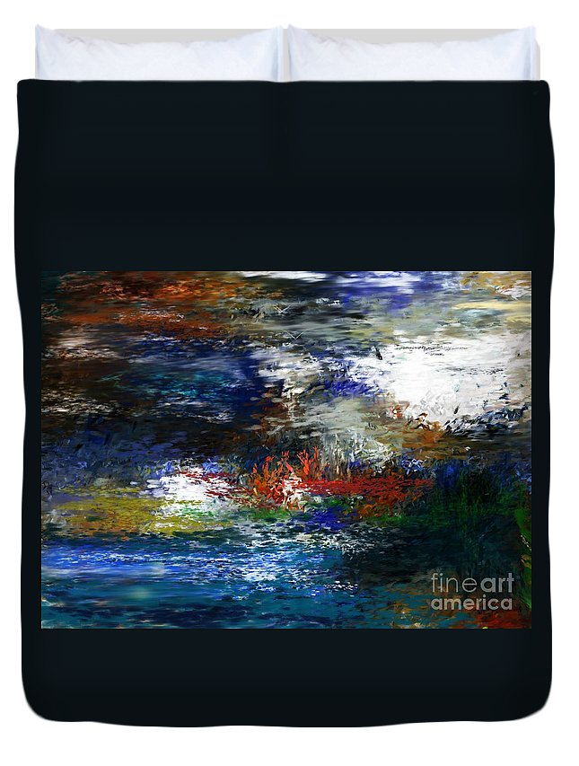 Abstract Duvet Cover featuring the digital art Abstract Impression 5-9-09 by David Lane