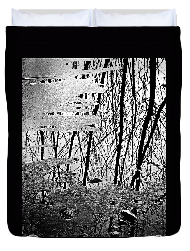 Ice Duvet Cover featuring the photograph Abstract In Ice by Marilyn Hunt