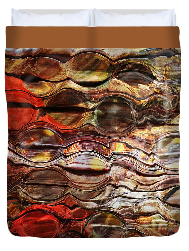Magnified Lines Abstract Duvet Cover featuring the photograph Abstract Magnified Lines by Kathy M Krause