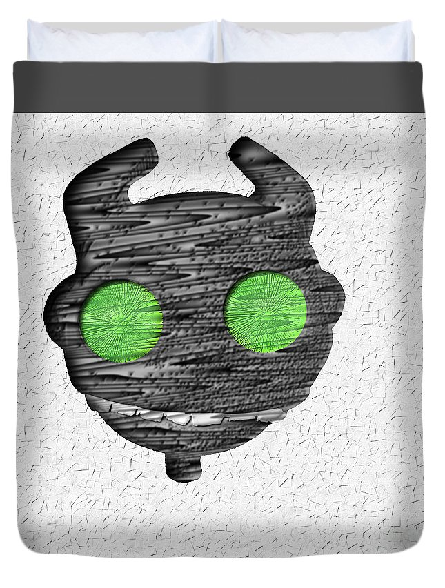 Monster Duvet Cover featuring the digital art Abstract Monster Cut-out Series - Ferko by Uncle J's Monsters