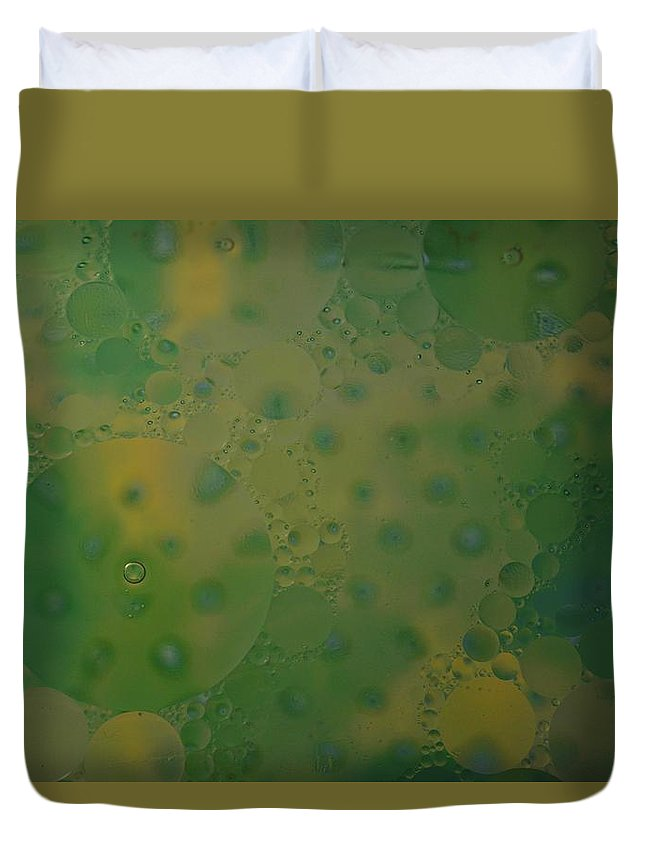 Abstract Duvet Cover featuring the photograph Abstract Oil And Water 10 by Dennis Nelson