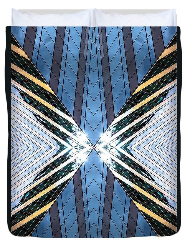 Duvet Cover featuring the photograph Abstract Photomontage N87v1 Dsc9063 by Raymond Kunst