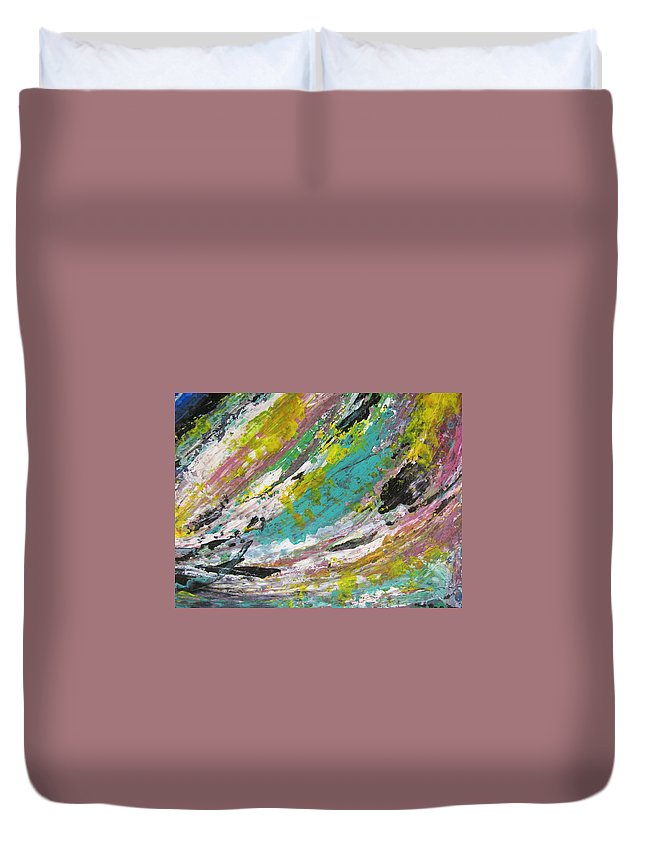 Abstract Duvet Cover featuring the painting Abstract Piano 1 by Anita Burgermeister