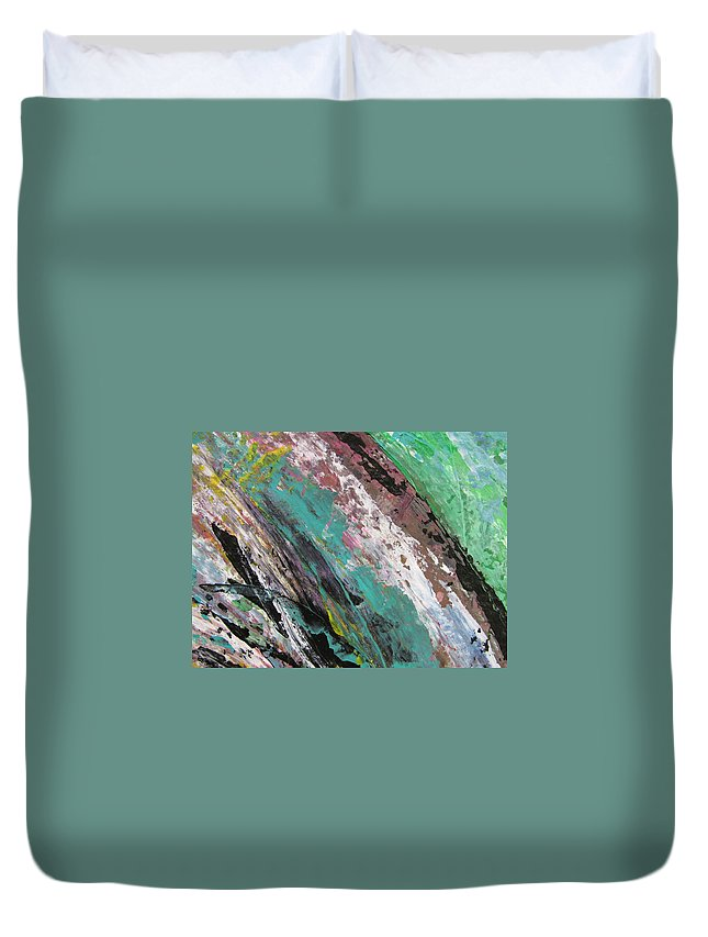Abstract Duvet Cover featuring the painting Abstract Piano 2 by Anita Burgermeister