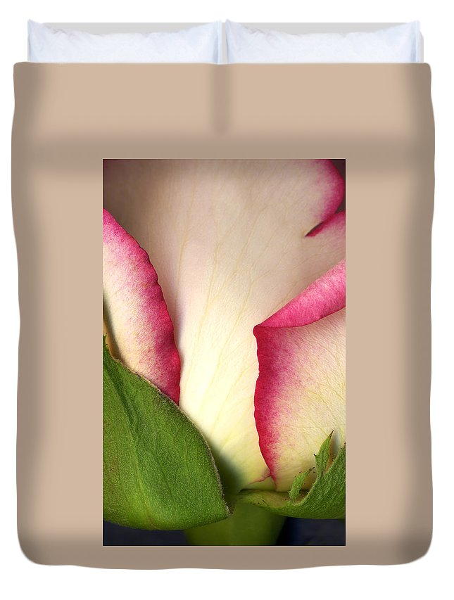 Rose Duvet Cover featuring the photograph Abstract Rose by Marilyn Hunt