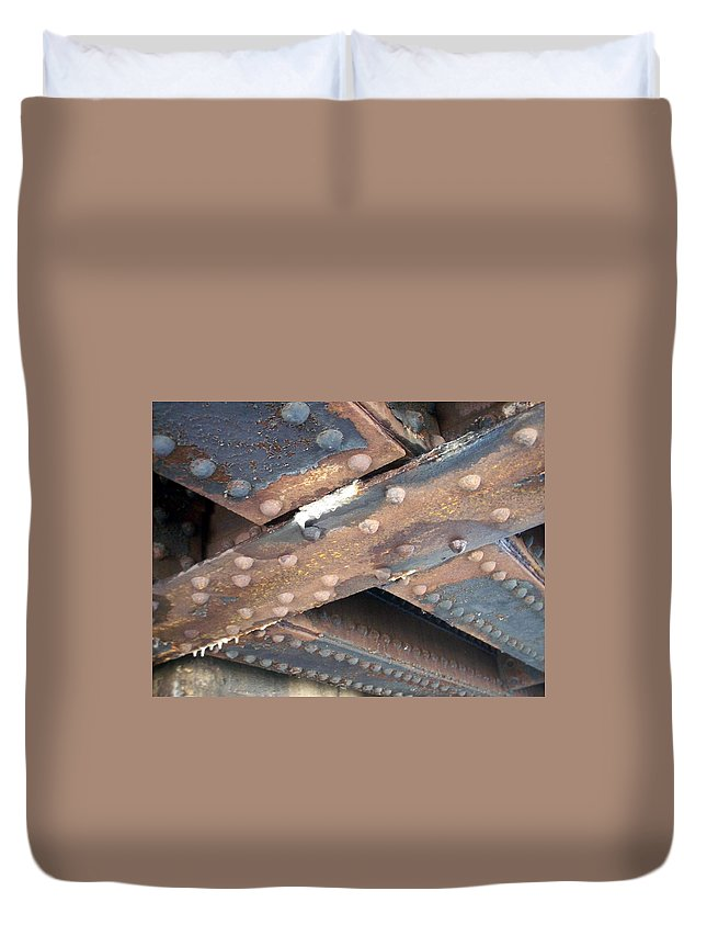 Urban Duvet Cover featuring the photograph Abstract Rust 2 by Anita Burgermeister