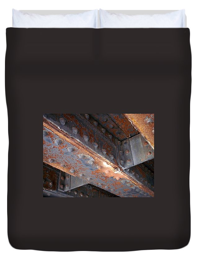 Urban Duvet Cover featuring the photograph Abstract Rust 3 by Anita Burgermeister