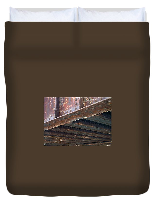 Urban Duvet Cover featuring the photograph Abstract Rust 4 by Anita Burgermeister