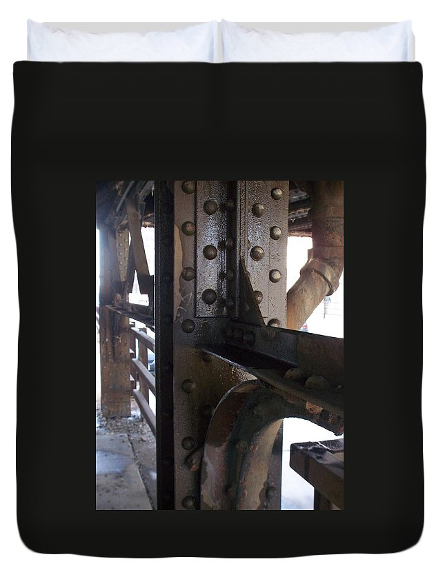 Industrial Duvet Cover featuring the photograph Abstract Rust 5 by Anita Burgermeister