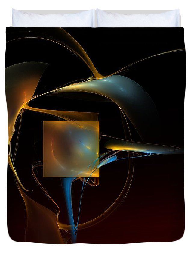 Abstract Duvet Cover featuring the digital art Abstract Still Life 012211 by David Lane
