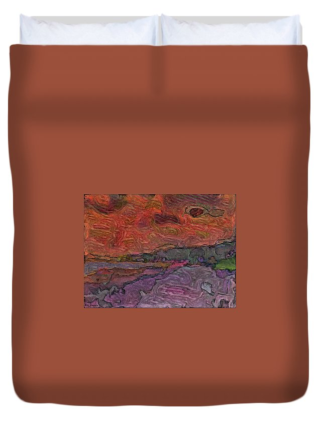 Beach Duvet Cover featuring the photograph Abstract Sunset by Dee Flouton