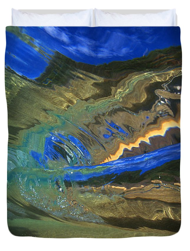 Abstract Duvet Cover featuring the photograph Abstract Underwater View by Vince Cavataio - Printscapes