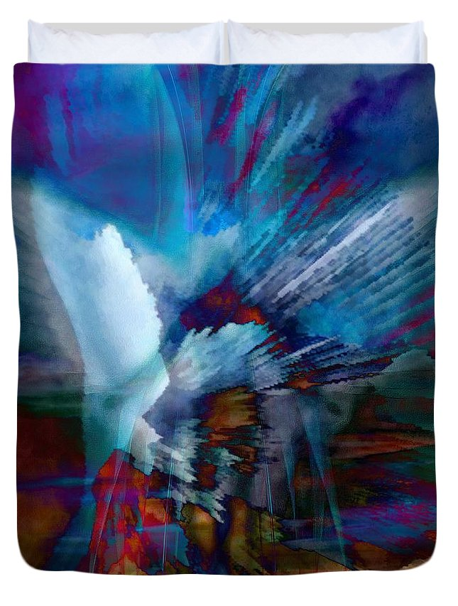 Abstract Visual Duvet Cover featuring the painting Abstract Visual by Catherine Lott