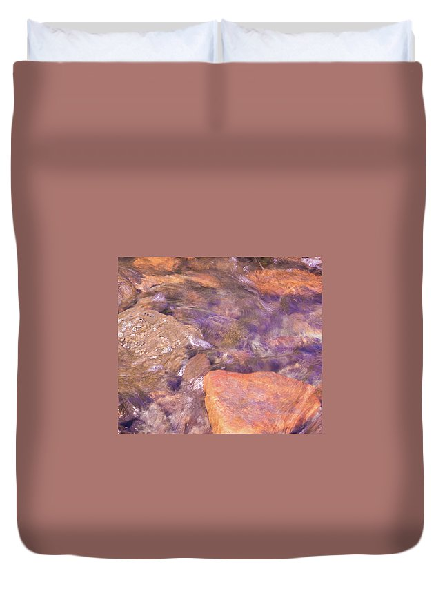 Water Duvet Cover featuring the photograph Abstract Water Art II by Lori Lynn Sadelack