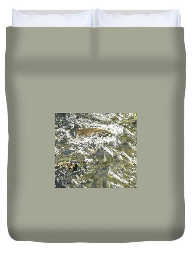 Water Duvet Cover featuring the photograph Abstract Water Art Vi by Lori Lynn Sadelack