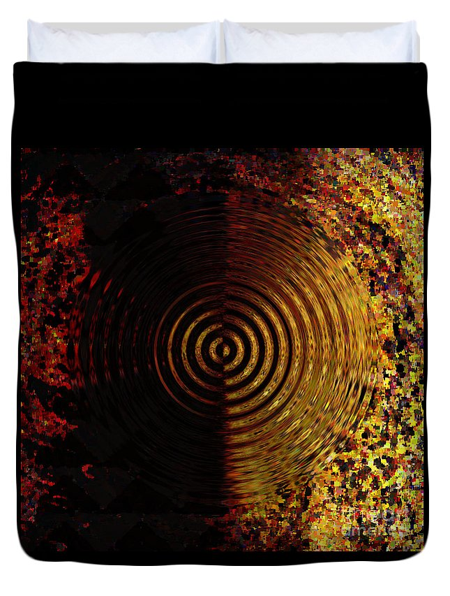 Canvas Duvet Cover featuring the digital art Abstract Water Effect by Swedish Attitude Design